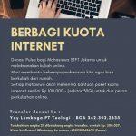 Berbagi Kuota Internet