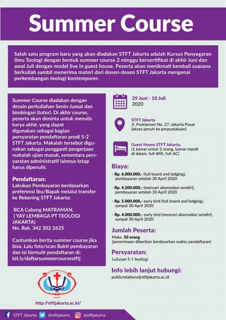 Informasi Summer Course Ditunda
