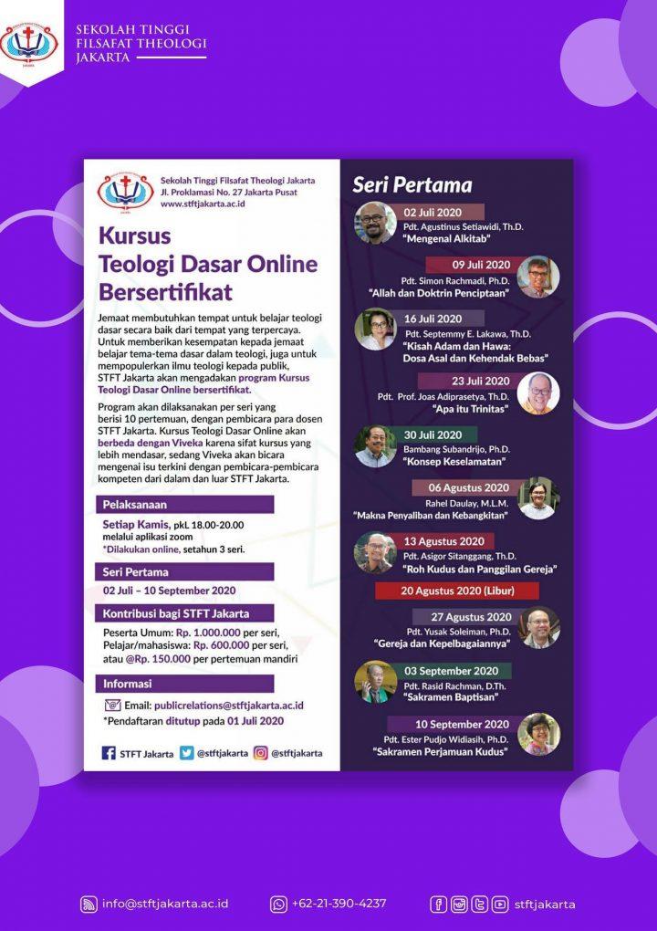 Kursus Teologi Dasar Online Bersertifikat