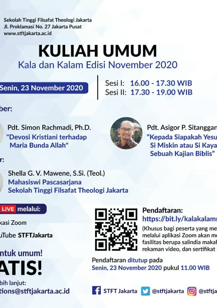 "Kuliah Umum ""Kala dan Kalam"" Edisi November 2020"